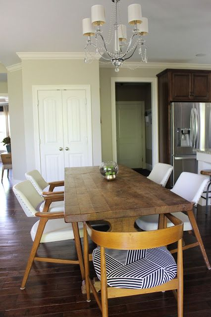 38++ Farmhouse table with mid century chairs inspiration
