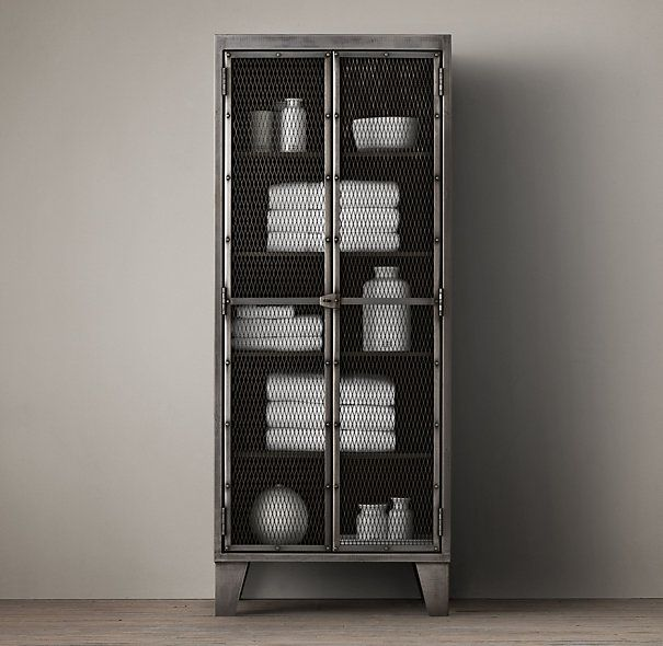 Circa 1900 French Linen Factory Tall Bath Cabinet Could Transform My Ikea To This