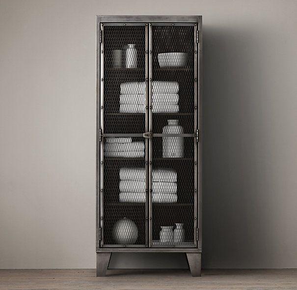 Circa 1900 French Linen Factory Tall Bath Cabinet | Apt Ideas ...