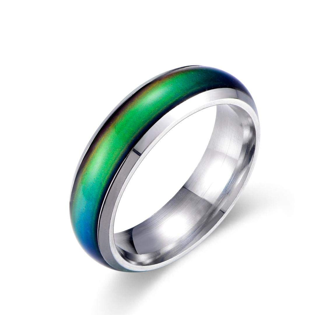 Ello Elli 6mm Fort Fit Stainlesssteel Color Changing Mood Ring Engagement Rings Wedding: Mood Ring Wedding Ring At Reisefeber.org