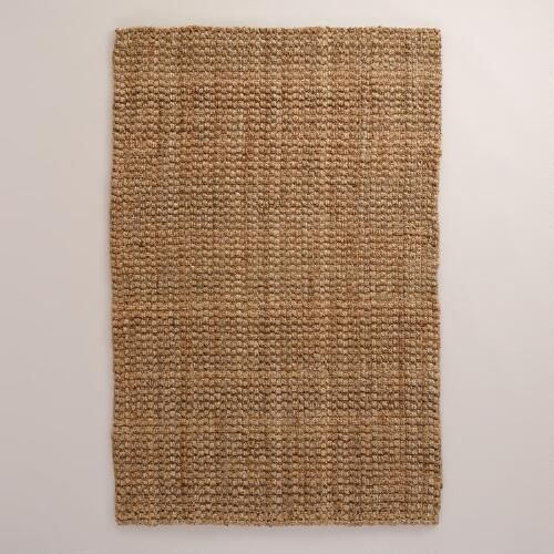 Natural Basket Weave Jute Rug | World Market