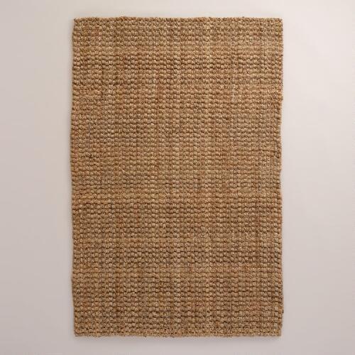 Natural Basket Weave Jute Rug | World Market