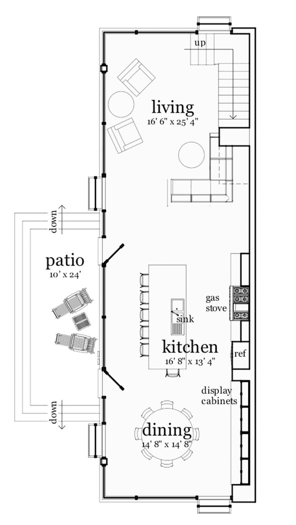 Modern Style House Plan 2 Beds 1 5 Baths 1203 Sq Ft Plan 909 3 Modern Loft House Floor Plans Modern Style House Plans