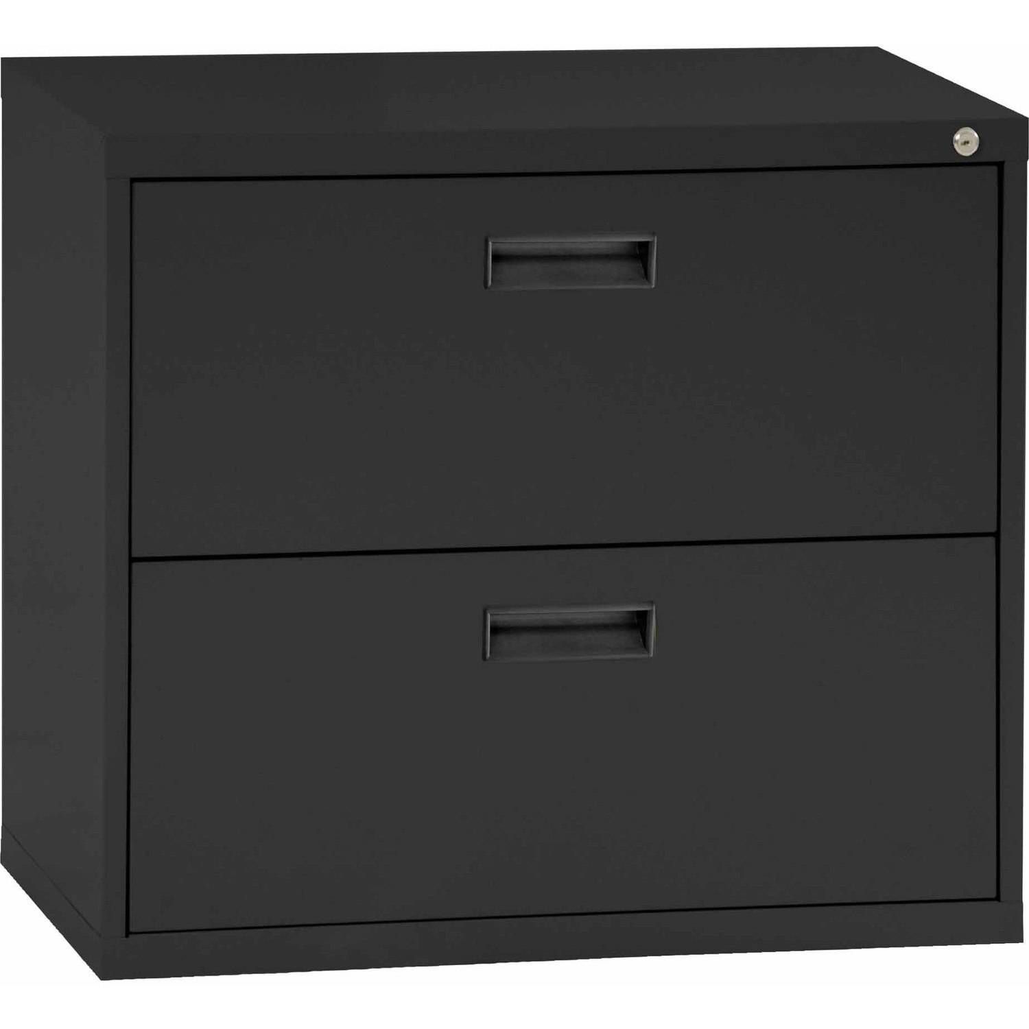sandusky steel lateral file cabinet with plastic handle, 2 drawers
