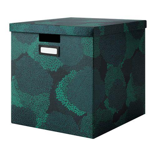 tjena kasten mit deckel schwarzblau ikea show your shelf k stchen box mit deckel und ikea. Black Bedroom Furniture Sets. Home Design Ideas