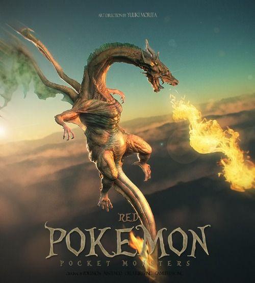 Pokémon Rojo versión realista.