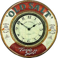 "36cm ""Old Salt"" Nautical Wall Clock"