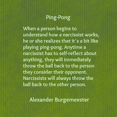 Narcissist mind games