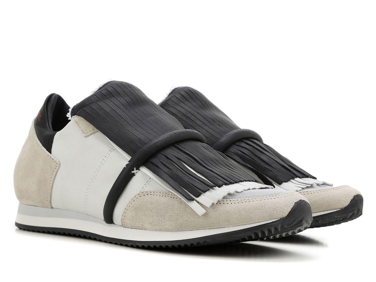 Philippe Model women sneakers in beige Leather and Fabric - Italian  Boutique €176 c10e56ba12e