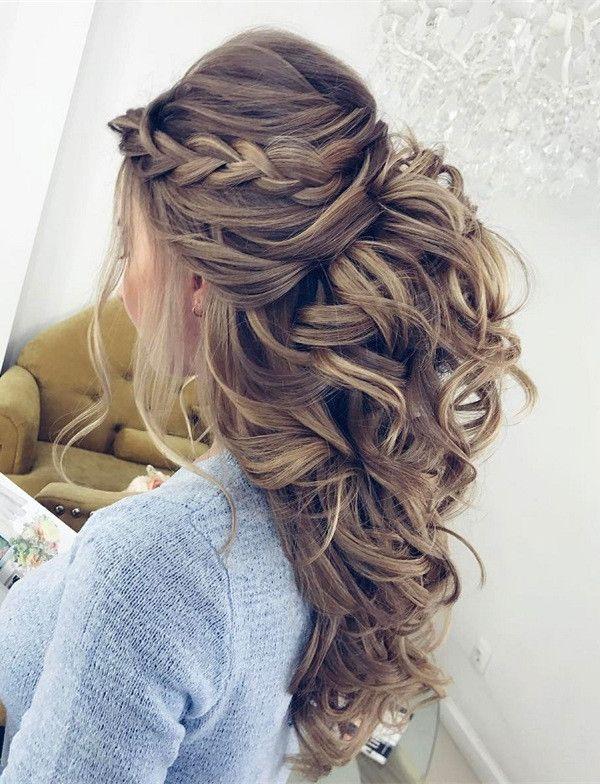 20 Amazing Half Up Half Down Wedding Hairstyle Ideas , Page
