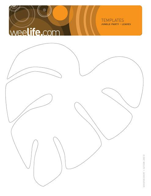 templates for jungle leaves | weelife: Leafy Templates | Safari VBS ...