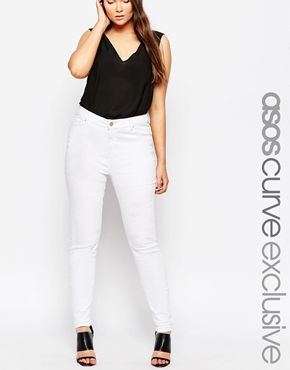 b1371d855a2 ASOS CURVE Ridley Skinny Jean in White