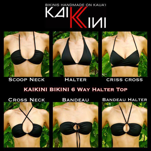 Interruptor hasta cómo llevar su parte superior del bikini cadena.   25 Awesome Swimsuit DIYs You Have To Try This Summer