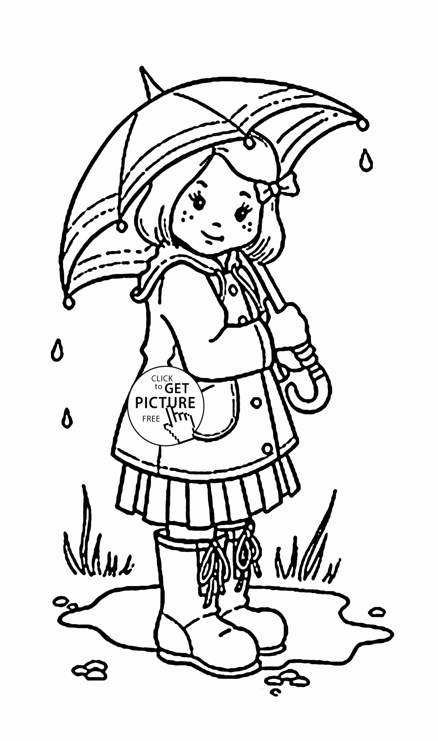 Kids Spring Coloring Pages In