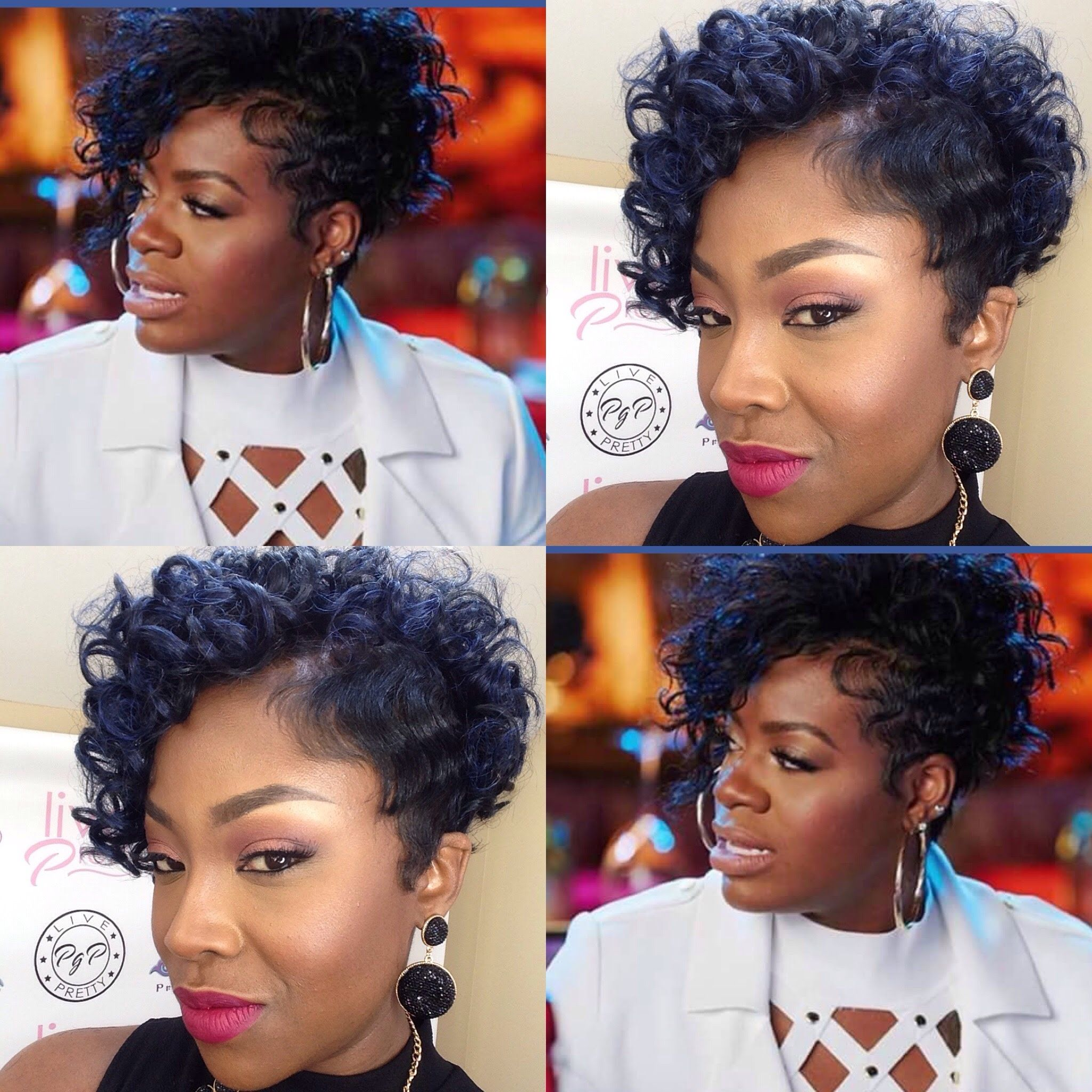 Fantasia Inspired Curly Bob Curly Hair Styles Hair Styles Short Hair Styles