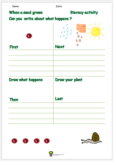 growing a seed worksheet plant worksheet activity science and written ks1 ks2 free print at www. Black Bedroom Furniture Sets. Home Design Ideas