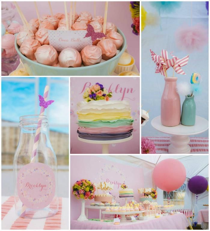 Butterfly Themed 1st Birthday Party with SUCH CUTE IDEAS via Karas