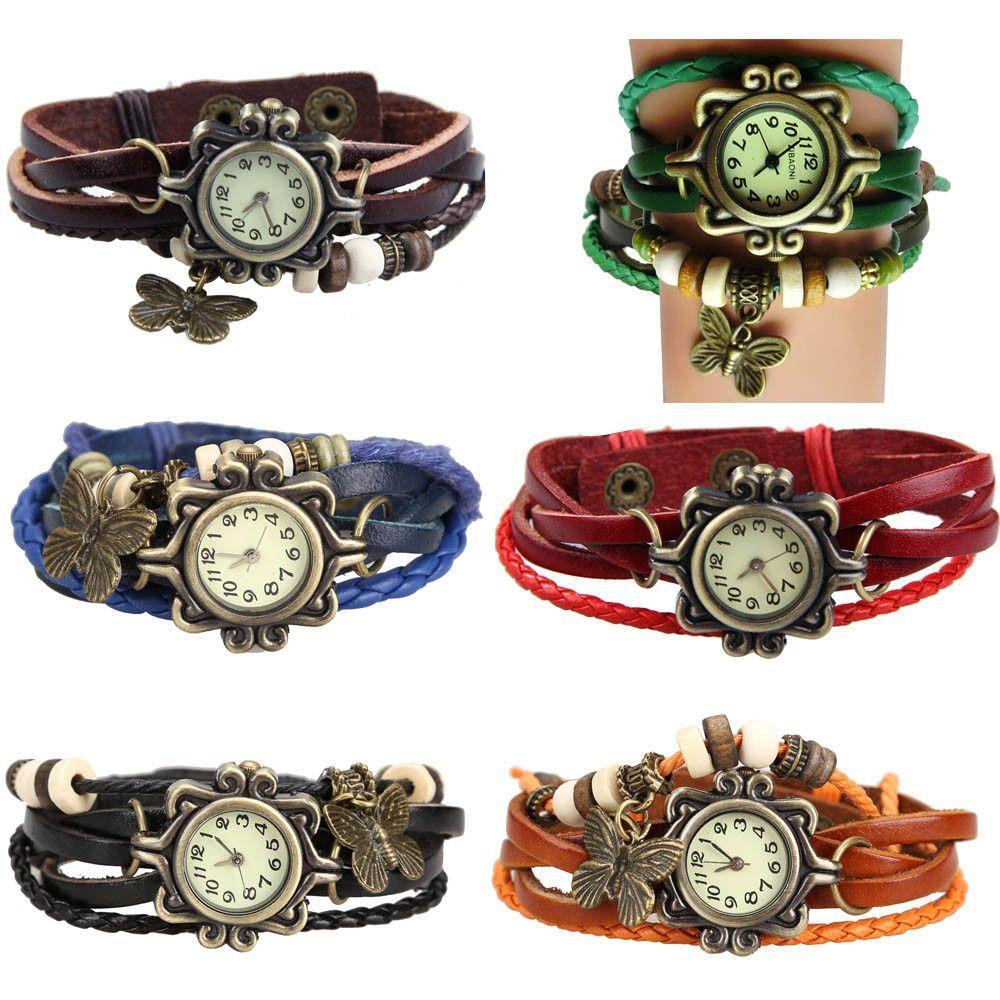 Antique Leather Bracelet Watch Vintage Women Wrist Watch Butterfly Pendant Synthetic Leather Strap dress Watch Relogio Feminino  #beautiful #beauty #fashion #stylish #cute #makeup #jennifiers #model #jewelry #outfitoftheday #purse #hair #styles #style #outfit