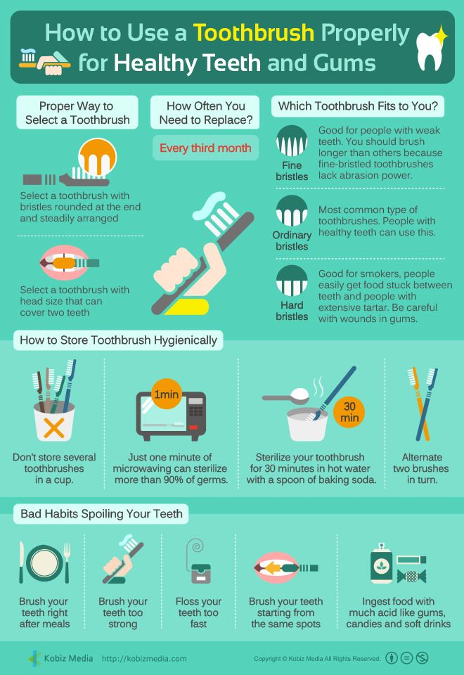 #Infographic [English] How To Use A Toothbrush Properly