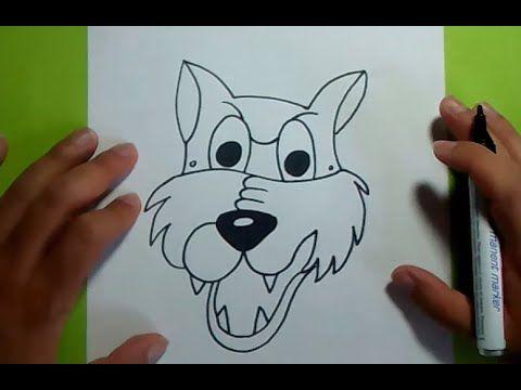 Una Forma Sencilla Y Rapida De Hacer Un Dibujo De Un Lobo En Poco