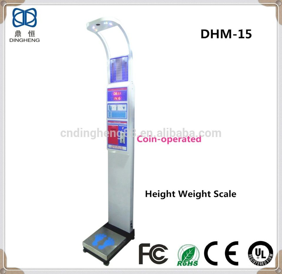 DHM15 Height Measure Electronic Body Weight Scale Coin