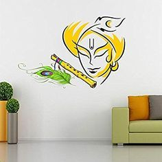 Buy Lord Krishna Wall Decal at Lowest Prices in India | Wall Art - SRG India  #lord #indiangod #god #wallart #sticker #homedecor #krishna #art