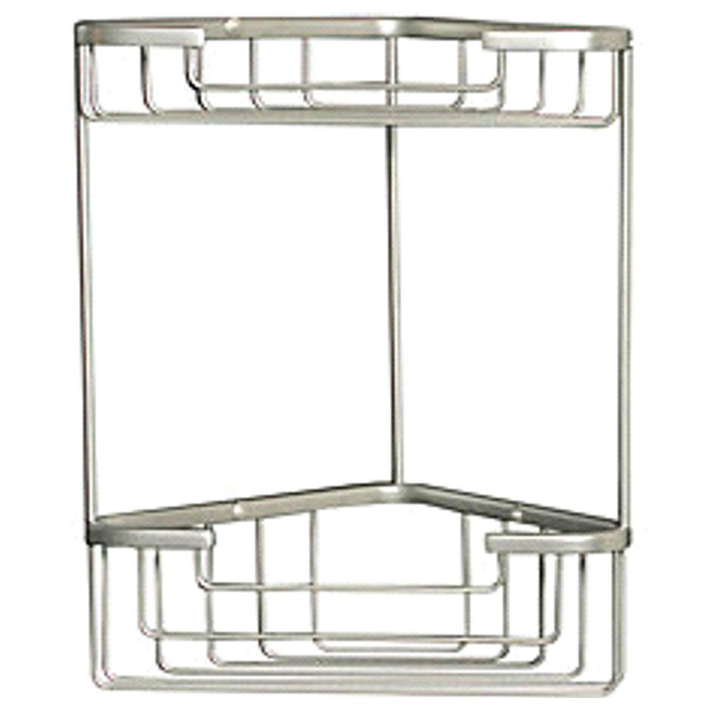 Elka Industries Wiretone Double Corner Basket In Chrome Polished