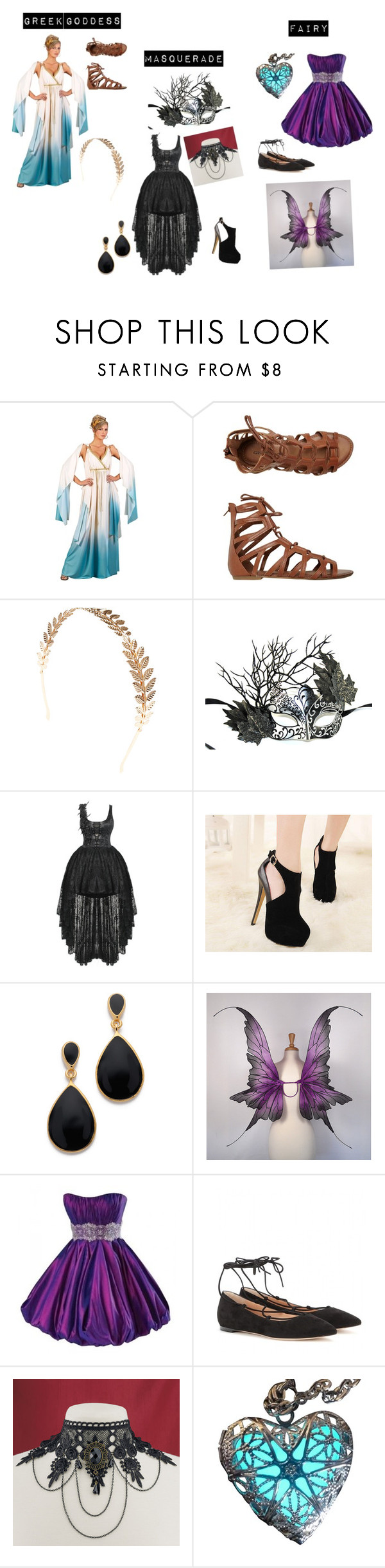 """Halloween #2"" by queen26yassy on Polyvore featuring O'Neill, Wet Seal, Masquerade, Kenneth Jay Lane, Maggie Sottero and Gianvito Rossi"