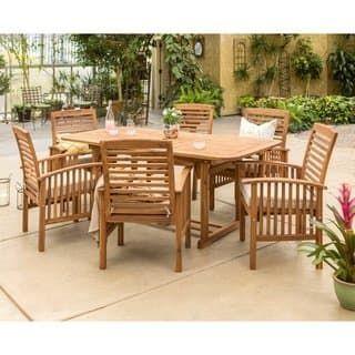 768 64 havenside home surfside 7 piece acacia wood patio dining set rh pinterest com