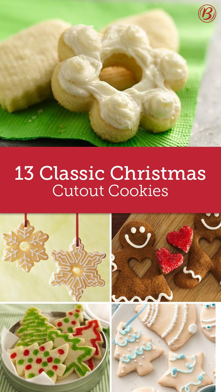 13 Classic Christmas Cut Out Cookie Recipes Christmas Cookies