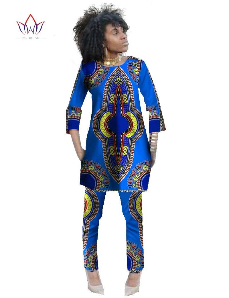 a4839951afc 2016 Autumn Two Piece Set Wax Top and Pants Women Suits Two Piece Set  African Women Clothing Plus Size 6xl Brand CustomWY484