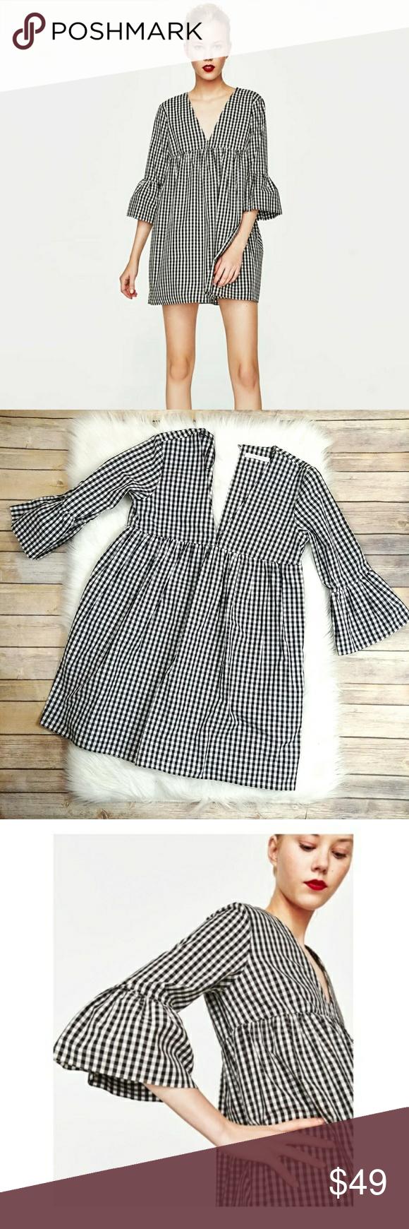f8606c37a6 Gingham Jumpsuit Dress Zara | Saddha