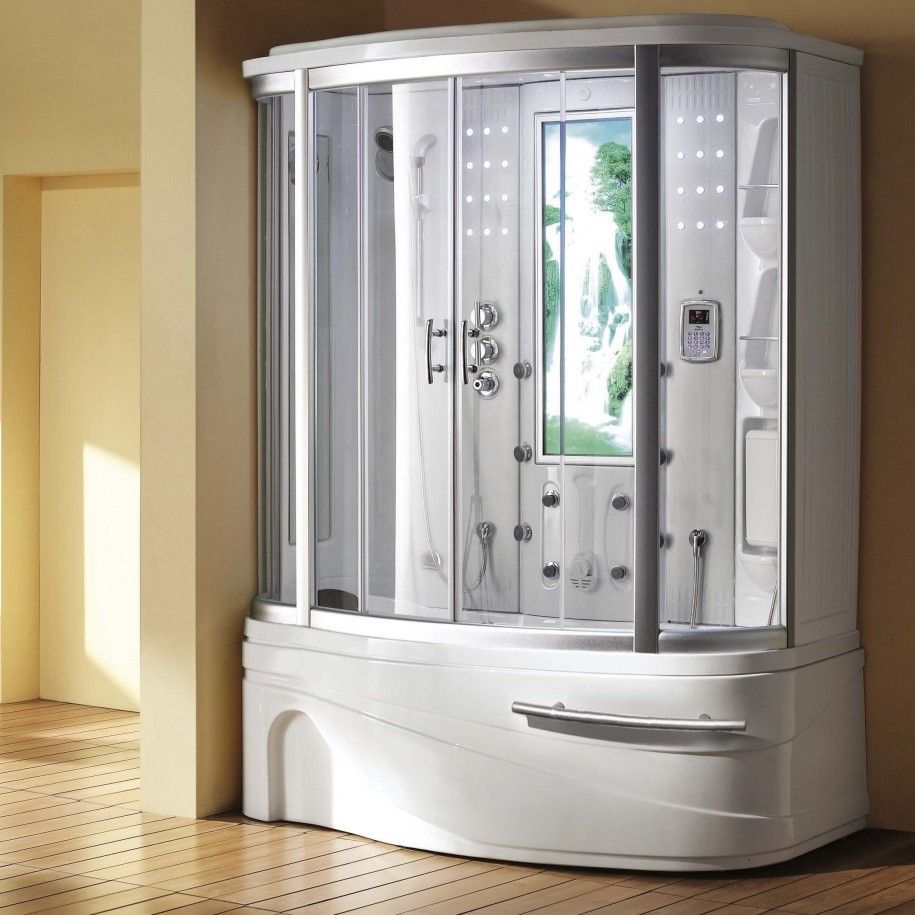 Cool Bathroom Steam Shower Enclosures Home Room Spa Jacuzzi Kit ...