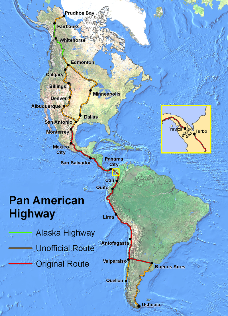 PanAmericanHwy PanAmerican Highway Wikipedia the free