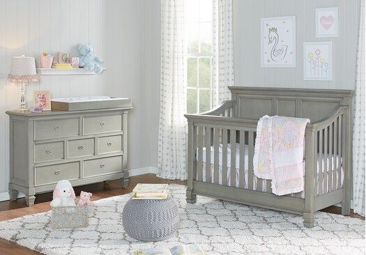 Belmar Gray 4 Pc Nursery - Bedroom Sets Colors | Nursery ...