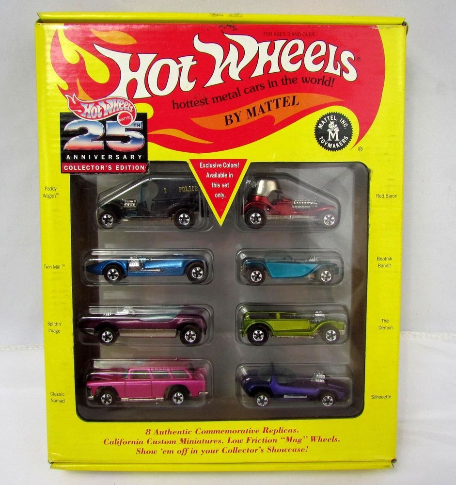 Hot Wheels 1 64 Die Cast 25th Anniversary Collectors Edition 8 Car