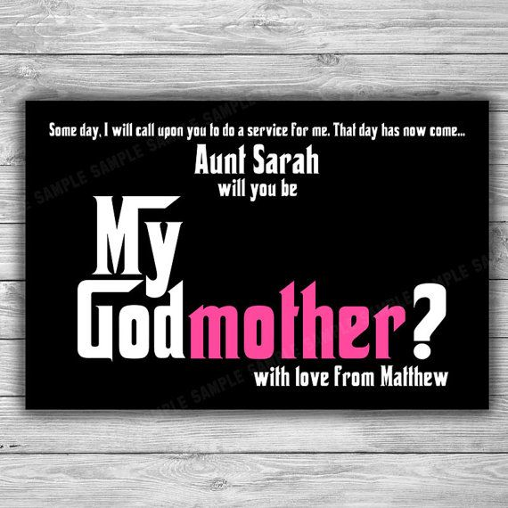 301da2df1dcf0 Godmother Card - Printable - Will You Be My Gotmother - DIY - Be My ...