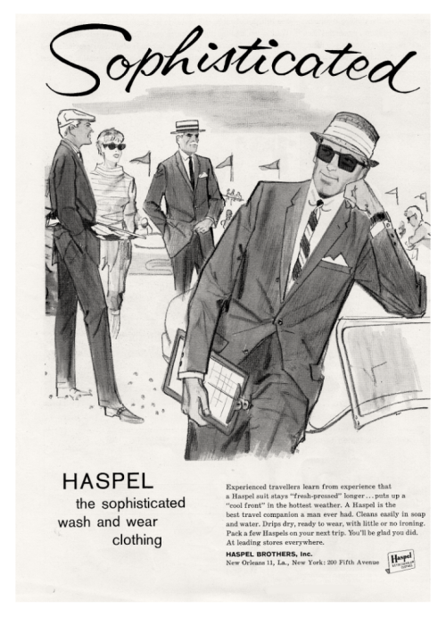 1960s Haspel Men\u0027s Clothing Advertisement.