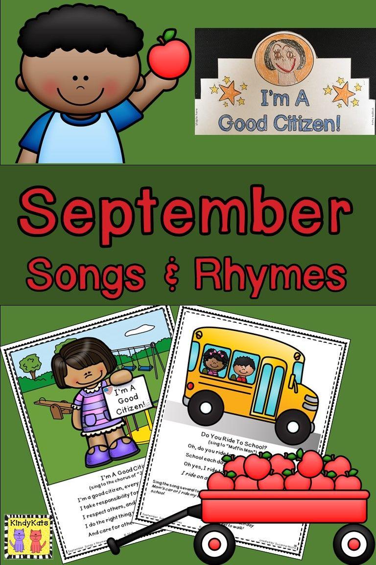 September Songs & Rhymes School songs, Preschool songs