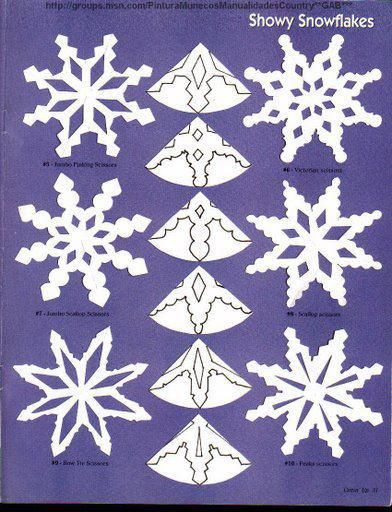 Copos de nieve vyst ihov nky do oken pinterest for Estrella de nieve
