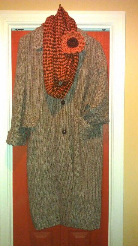 My Grandma's Scottish, 100% wool, Harris Tweed coat with