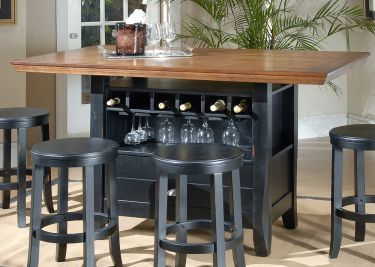 5 Pc Chatham County Rectangular Counter Height Wine Storage Table Set Counter Height Kitchen Table Kitchen Table With Storage Counter Height Table