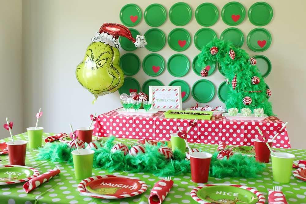 Grinch Christmas Holiday Party Ideas Photo 7 Of 14 Christmas Birthday Party Work Christmas Party Kids Christmas Party