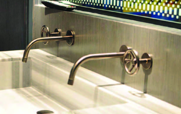 Faucet Collection From Watermark Designs From Brooklyn Usa With Their Very Cool And Rough Designs The Wall Mounted Basins Watermark Design Wall Mount