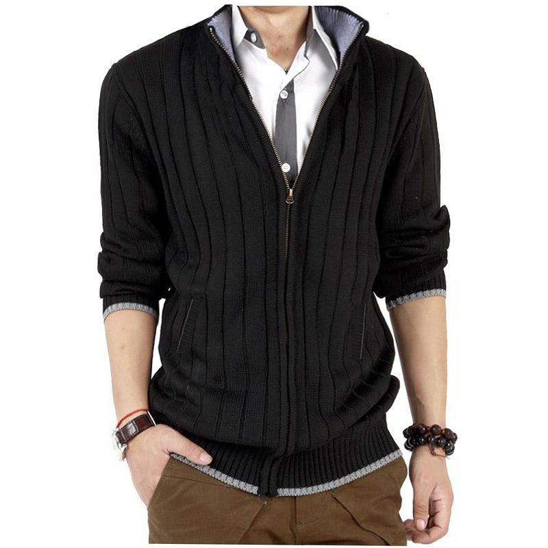 New 2014 Spring and autumn men's plus size clothing M-6XL zipper ...