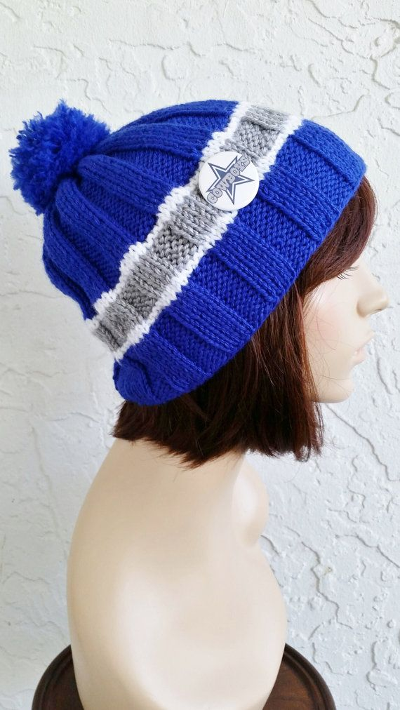 b35134d1344 hand knit dallas cowboys hat Dallas Cowboys NFL beanie by annmag  (Accessories