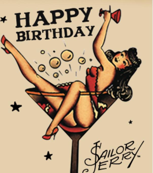 пинап открытки с днем рождения оно