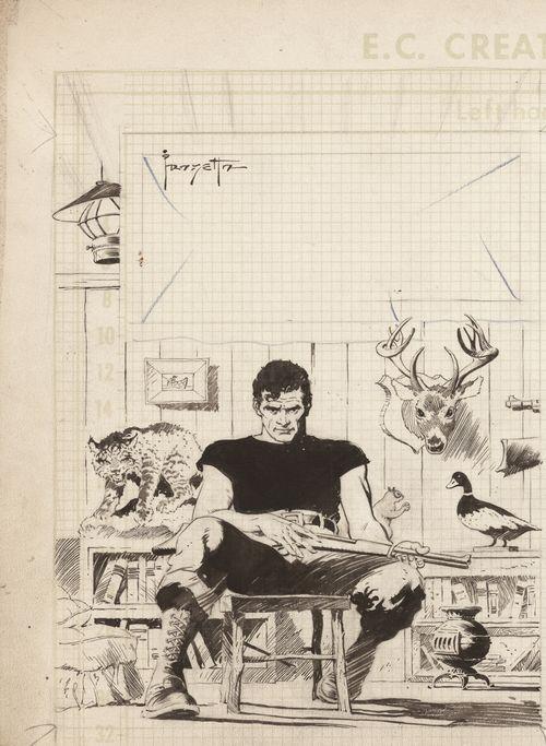 Autorretrato de Frank Frazetta de joven.