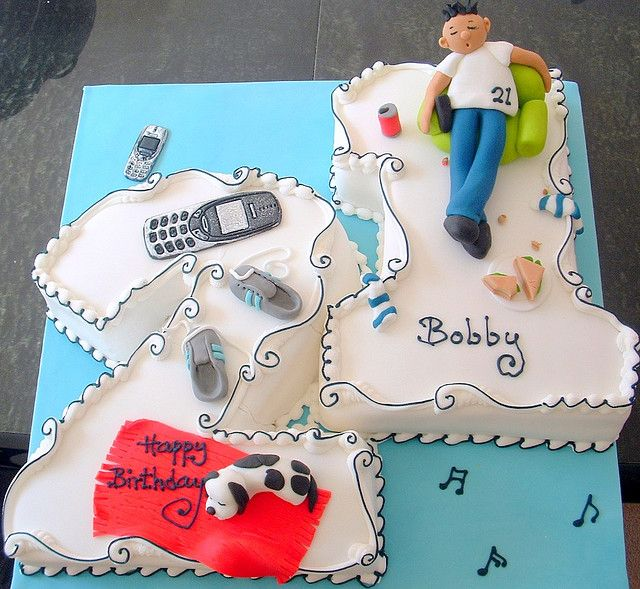 Surprising No 21St Cake For Teenagers With Images 21St Birthday Cakes Personalised Birthday Cards Epsylily Jamesorg