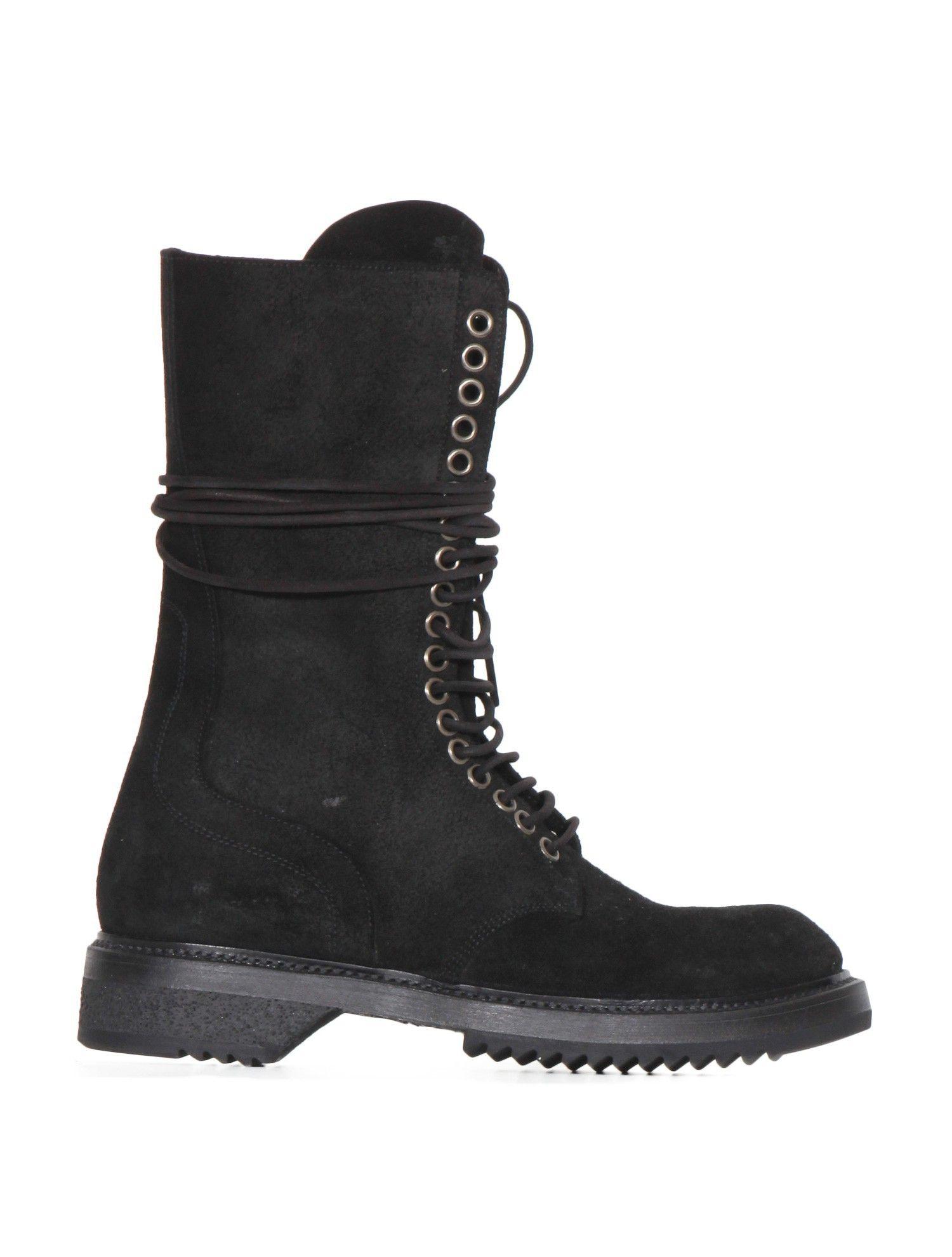 chaussures femme - boots rangers rick owens fw15 sphinx - noir
